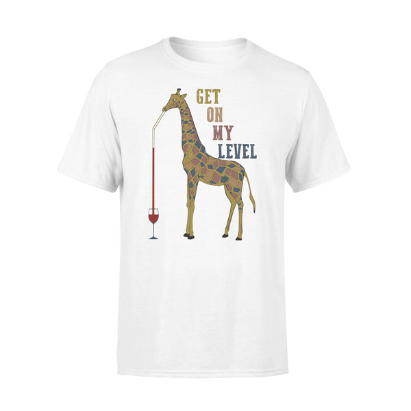 Giraffe Drink Wine Get On My Level T-shirt L By AllezyShirt
