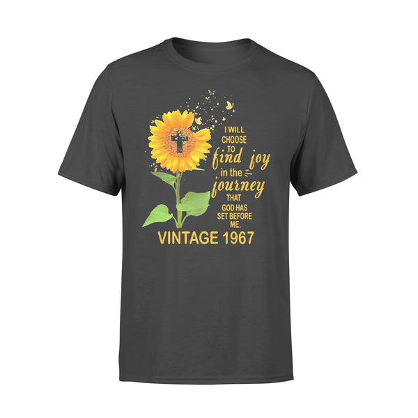 I Will Choose To Find Joy In The Journey That God Has Set Before Me Vintage 1967 Sunflower T-shirt L By AllezyShirt