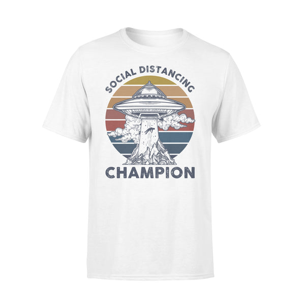 Ufos Social Distancing Champion Shirt L By AllezyShirt