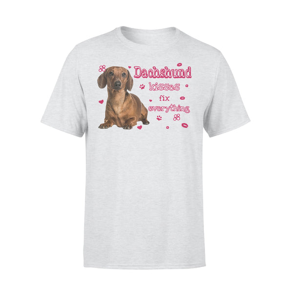 Dachshund Kisses Fix Everything T-shirt XL By AllezyShirt