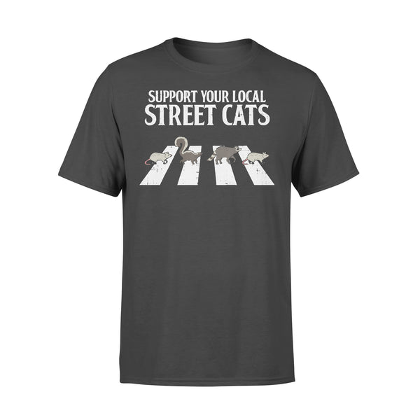Support Your Local Street Cats Parody Racoon Skunk Opossum T-shirt L By AllezyShirt