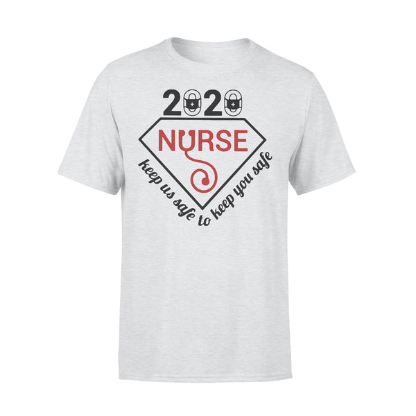 2020 Nurse Keep Us Safe To Keep You Safe Diamond Covid-19 Shirt XL By AllezyShirt