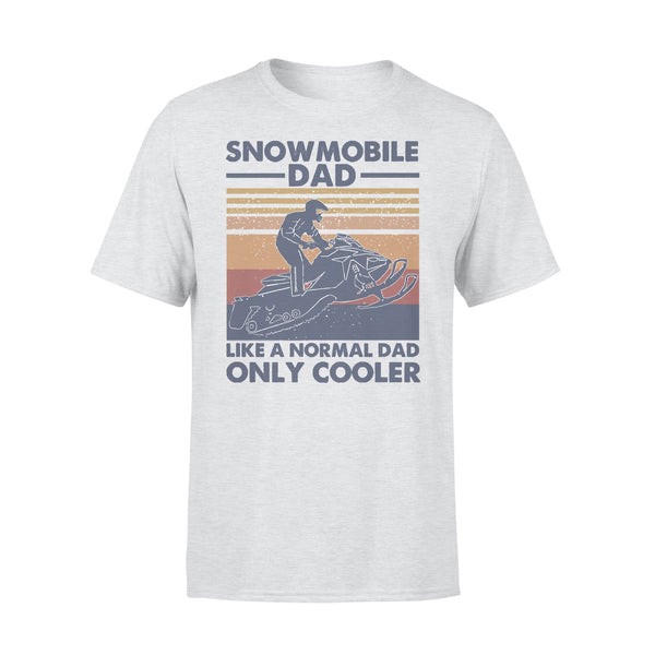 Snowmobile Dad Like A Normal Dad Only Cooler Vintage T-shirt XL By AllezyShirt