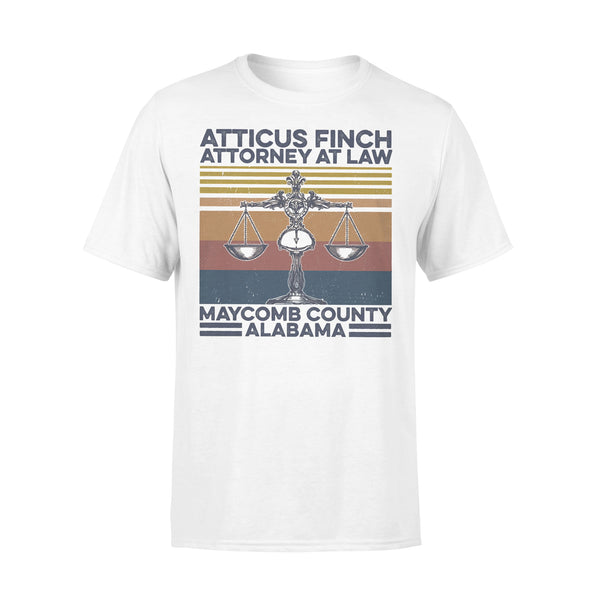 Atticus Finch Attorney At Law Maycomb County Alabama Vintage Retro T-shirt L By AllezyShirt