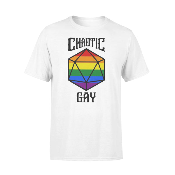 Chaotic Gay Rainbow Dice T-shirt L By AllezyShirt