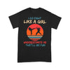 I Do Fight Like A Girl Underestimate Me That'll Be Fun Karate Vintage T-shirt S By AllezyShirt