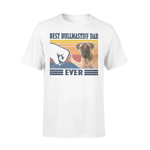Father's Day Best Bullmastiff Dad Ever Vintage T-shirt L By AllezyShirt