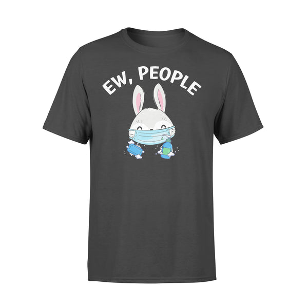 Ew People Rabbit Wearing A Face Mask With Hand Sanitiz T-shirt L By AllezyShirt