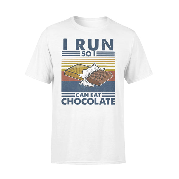 i Run So I Can Eat Chocolate Running Vintage T-shirt L By AllezyShirt