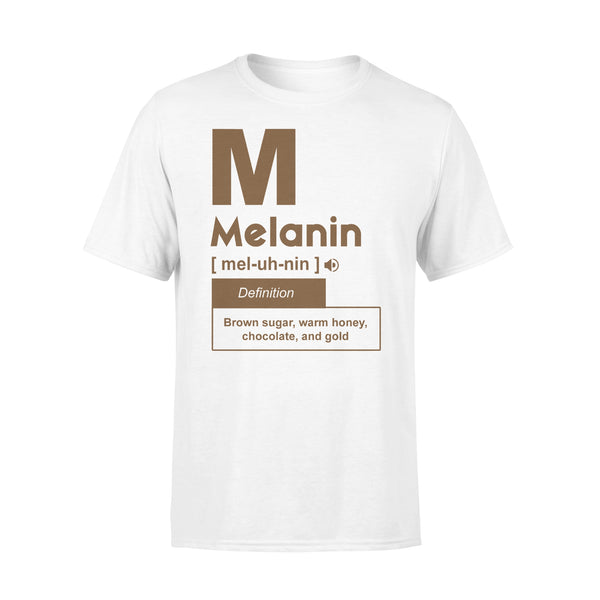Melanin Definition Brown Sugar Warm Honey Chocolate And Gold T-shirt L By AllezyShirt