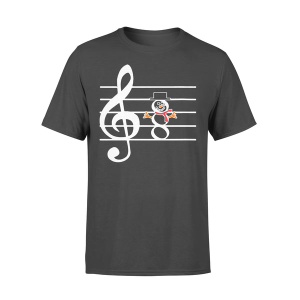 Snowman Musician Music Teachers Christmas T-shirt L By AllezyShirt