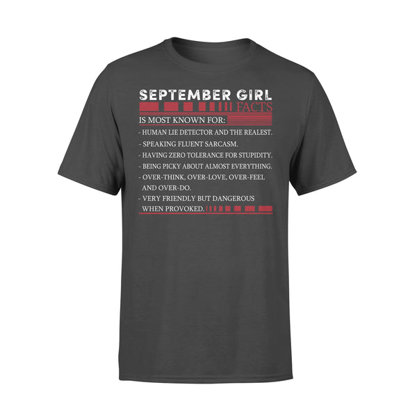 Best September Girl Facts Shirt L By AllezyShirt