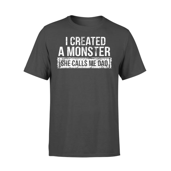 I Created A Monster She Calls Me Dad T-shirt L By AllezyShirt