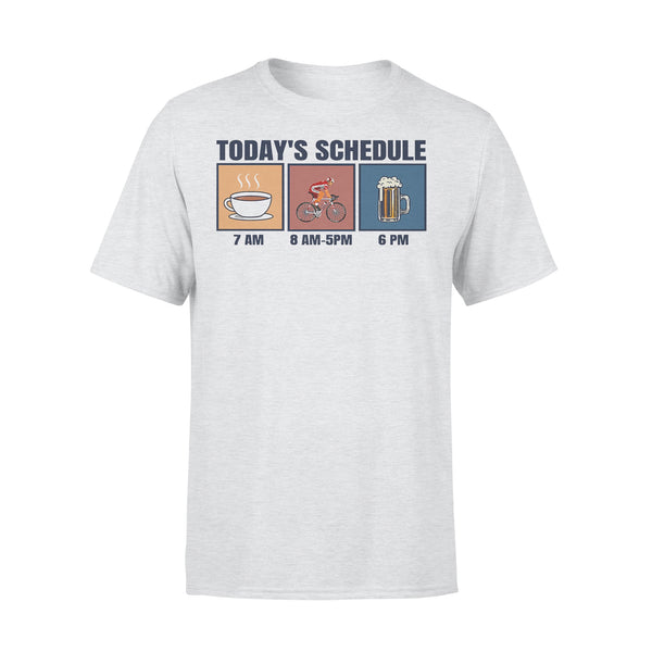 Bicycle Today's Schedule Coffee Cycling Beer T-shirt XL By AllezyShirt