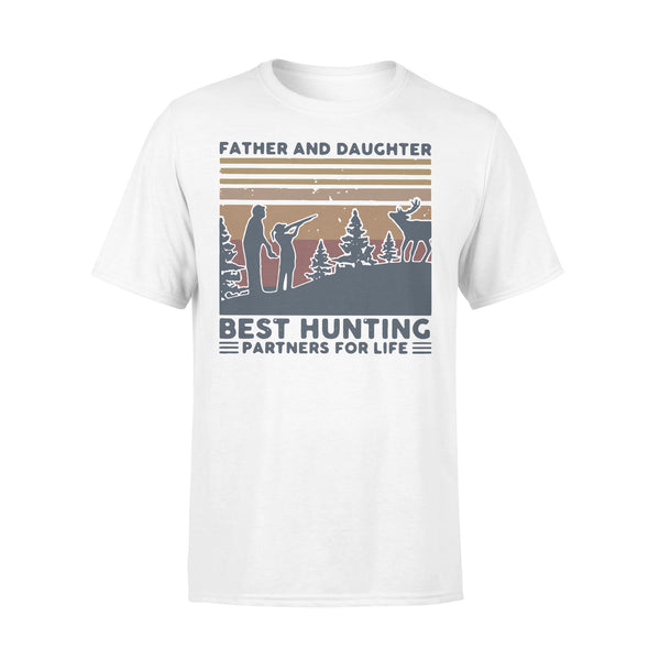 Father And Daughter Best Hunting Partnees For Life Vintage T-shirt L By AllezyShirt