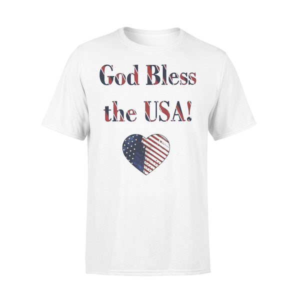 God Bless The Usa Heart T-shirt L By AllezyShirt