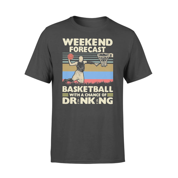 Weekend Forecast Basketball With A Chance Of Drinking Beer Vintage T-shirt L By AllezyShirt