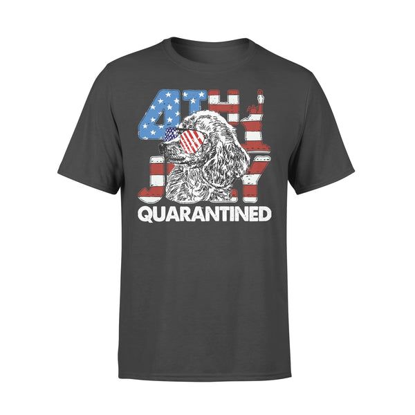 Poodles 4Th Of July Merica Quarantined Gifts Funny T-shirt L By AllezyShirt