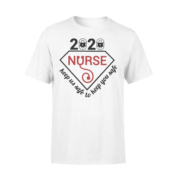 2020 Nurse Keep Us Safe To Keep You Safe Diamond Covid-19 Shirt L By AllezyShirt