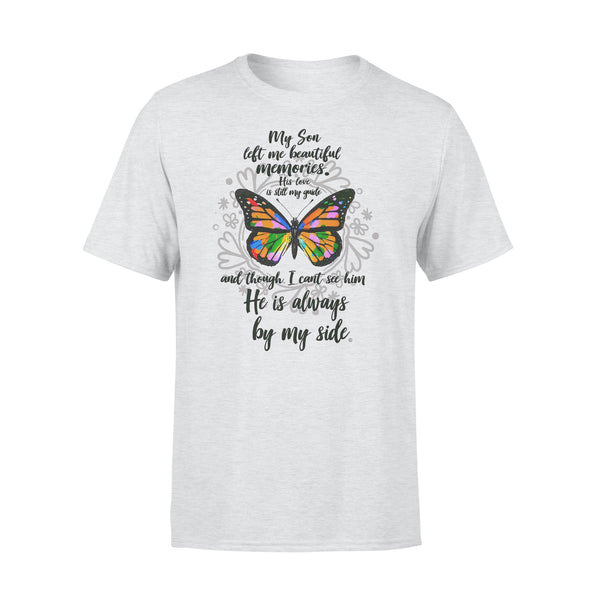 My Son Left Me Beautiful Memories His Love Is Still My Guide Butterfly T-shirt XL By AllezyShirt