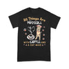 All Things Are Possible With Coffee And A Cat Maid T-shirt L By AllezyShirt