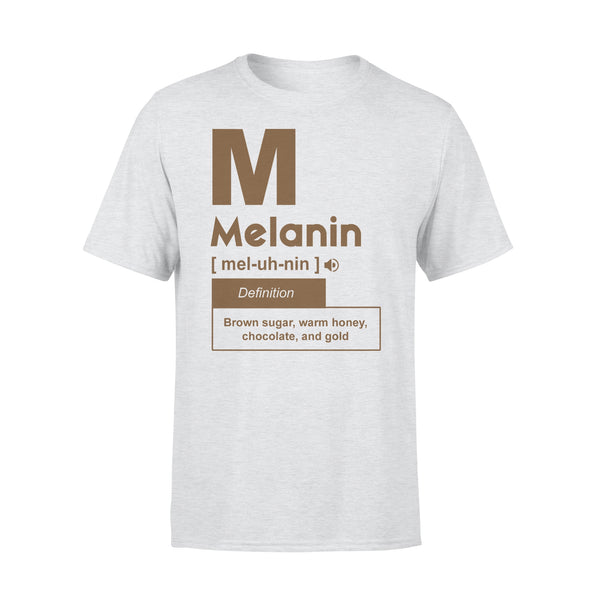 Melanin Definition Brown Sugar Warm Honey Chocolate And Gold T-shirt XL By AllezyShirt