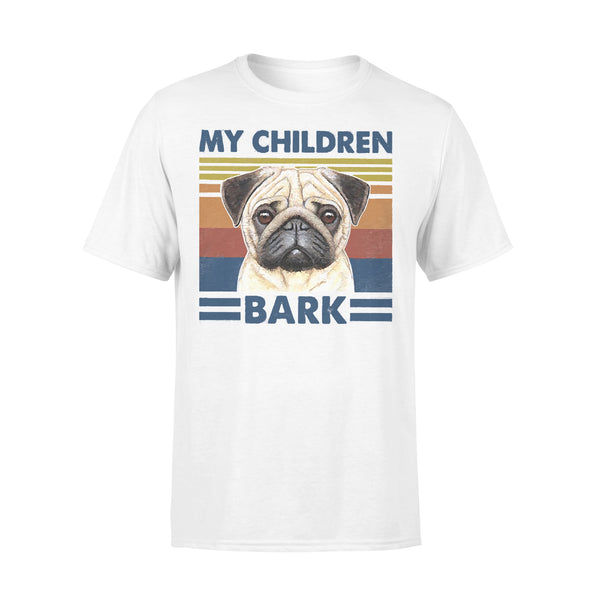 My Children Bark Pug Vintage Father's Day T-shirt L By AllezyShirt