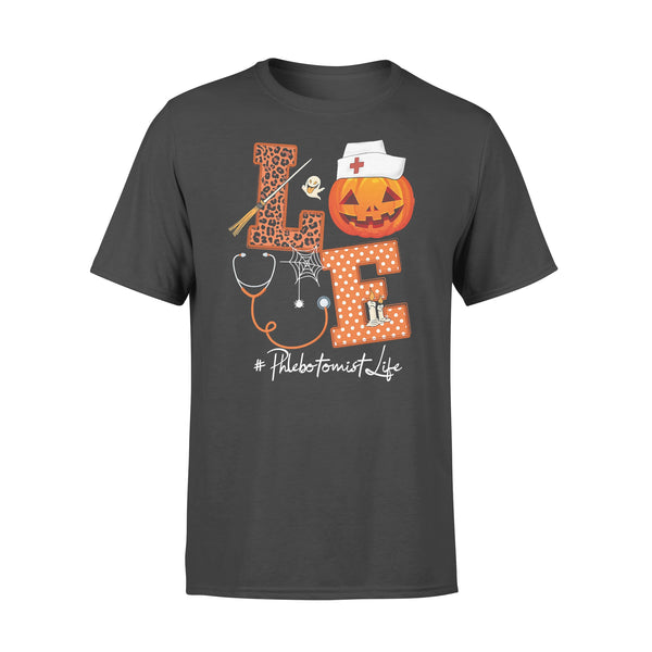 Halloween Pumpkin Love Phlebotomist Life T-shirt L By AllezyShirt