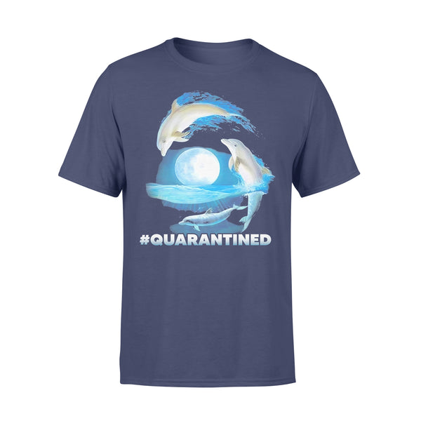Nautical Full Moon Bottlenose Dolphins Quarantined T-shirt XL By AllezyShirt