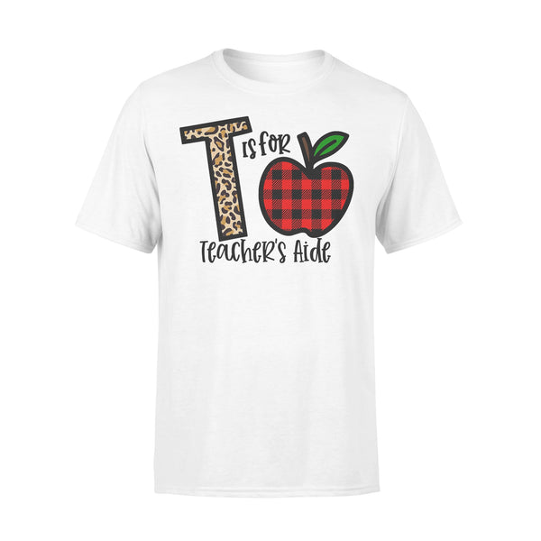 L Is For Teacher's Aide Apple Buffalo Plaid T-shirt L By AllezyShirt