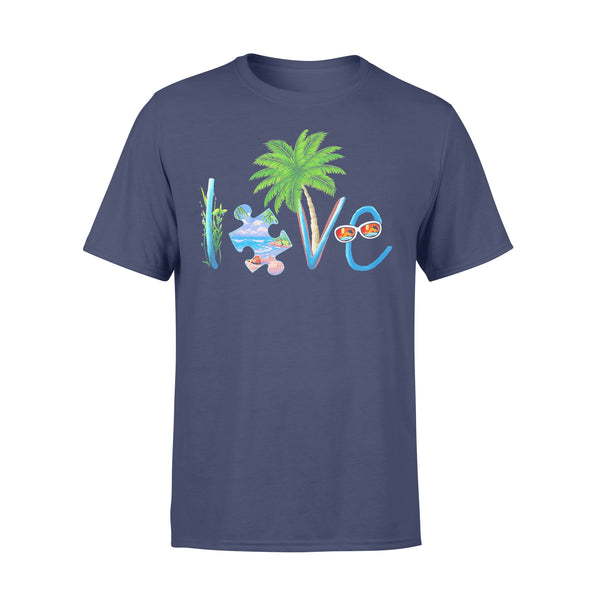 Official Autism Love Beach T-shirt XL By AllezyShirt