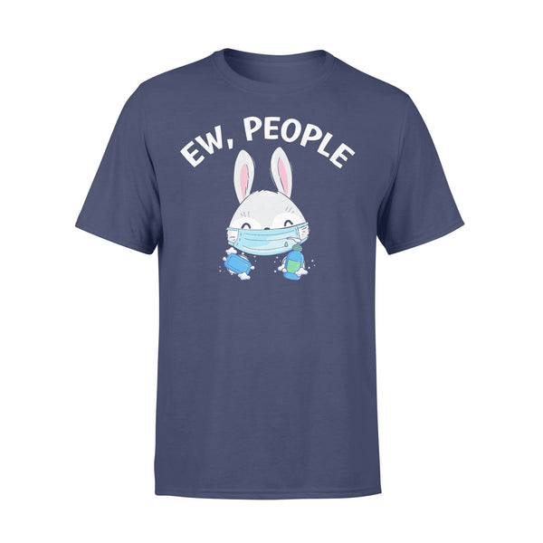 Ew People Rabbit Wearing A Face Mask With Hand Sanitiz T-shirt XL By AllezyShirt