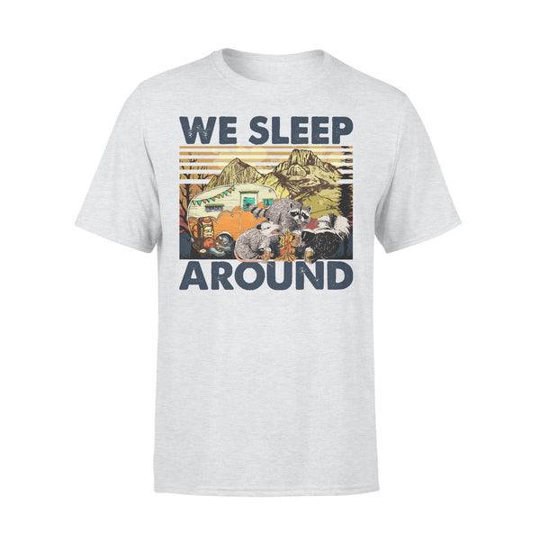 Trash Animals Camping Lovers We Sleep Around Camp Life T-shirt XL By AllezyShirt