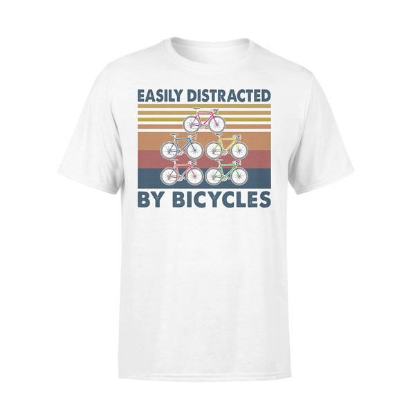 Easily Distracted By Bicycles Vintage Retro T-shirt L By AllezyShirt