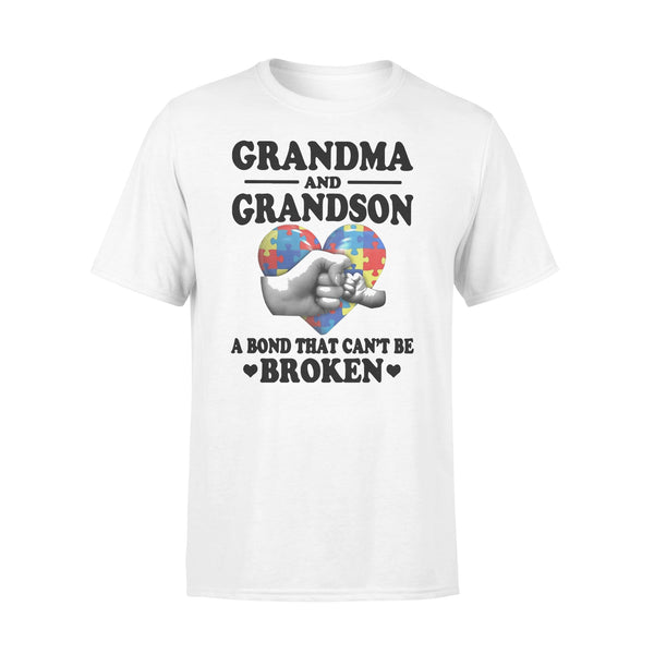 Grandma And Grandson A Bond That Can't Be Broken Autism Awareness T-shirt L By AllezyShirt