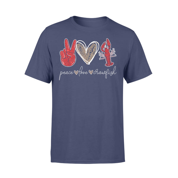 Peace Love Crawfish Leopard Seafood Lover Shirt XL By AllezyShirt