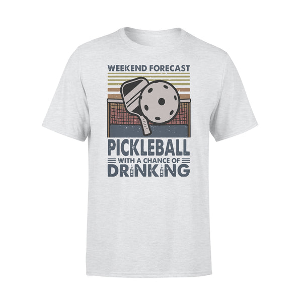 Weekend Forecast Pickleball With Aa Chance Of Drinking Vintage T-shirt XL By AllezyShirt