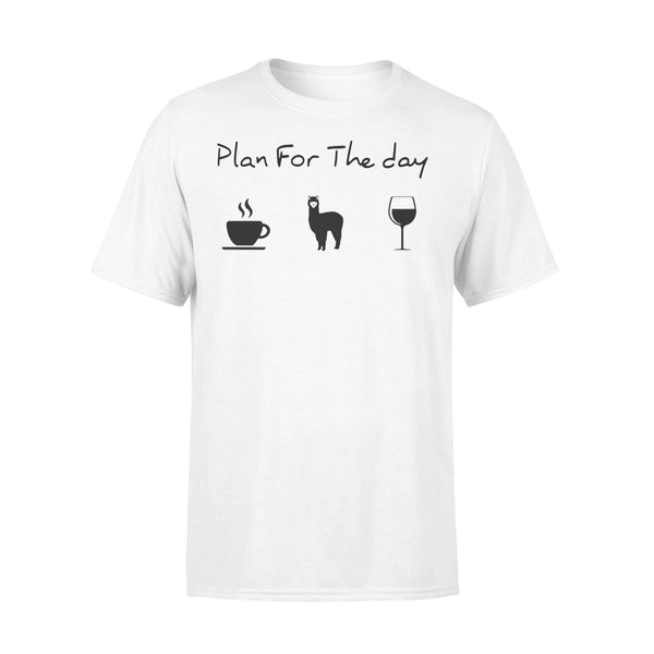 Plan For The Day Love Coffee Camel And Wine Shirt L By AllezyShirt