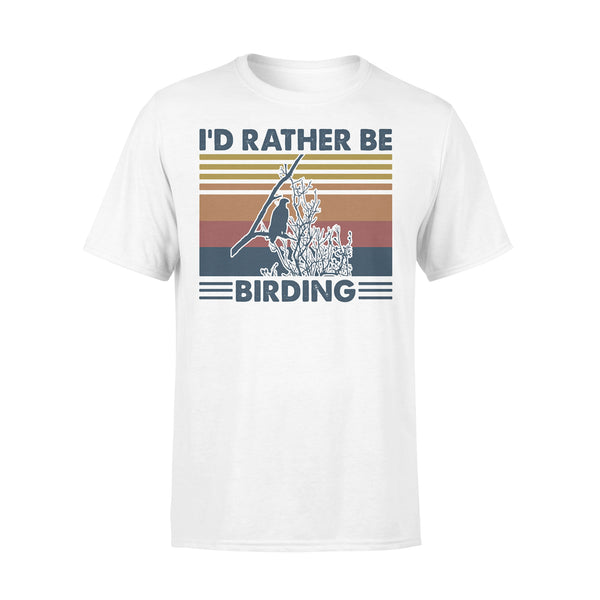 Bird Watching I'd Rather Be Birding Vintage Retro T-shirt L By AllezyShirt