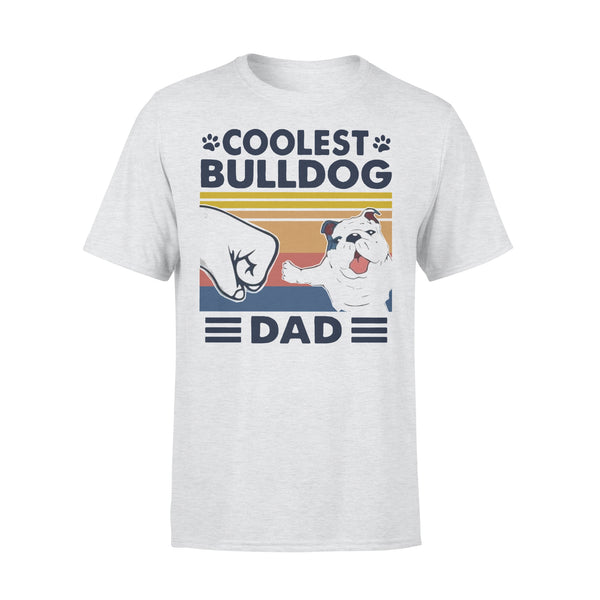 Coolest Bulldog Dad Vintage T-shirt XL By AllezyShirt