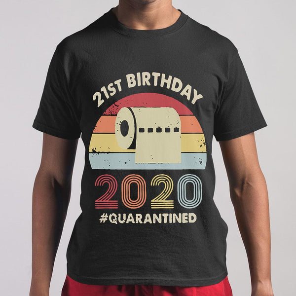 21St Birthday 2020 Quarantine Vintage T-shirt S By AllezyShirt
