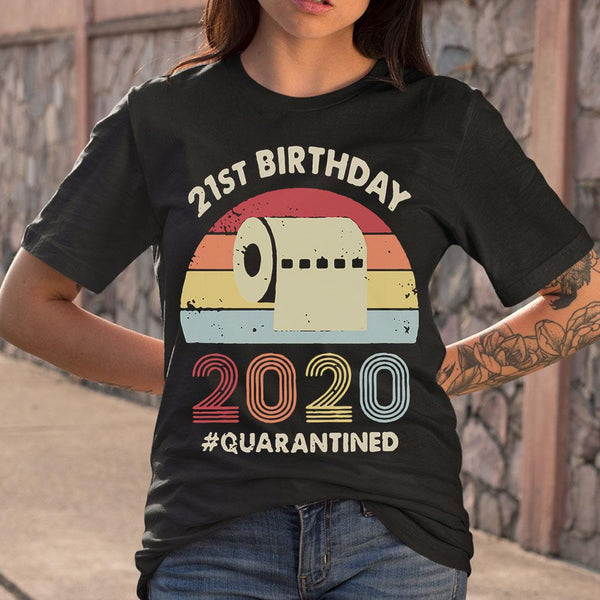 21St Birthday 2020 Quarantine Vintage T-shirt M By AllezyShirt