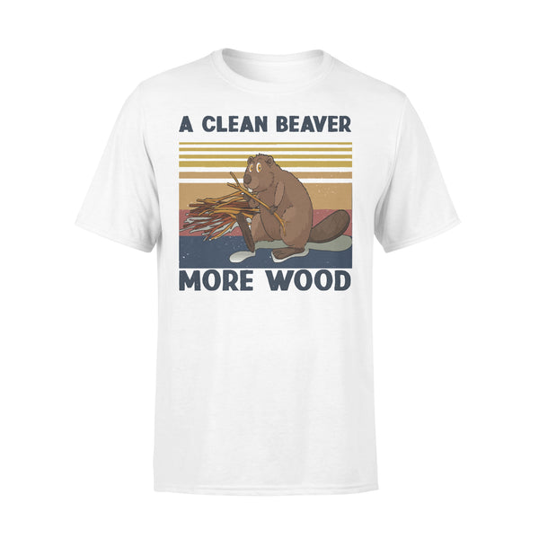 A Clean Beaver Always Gets More Wood Vintage T-shirt L By AllezyShirt