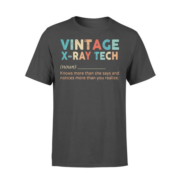 Vintage X-Ray Tech Noun Knows More Than He Says And Notices More Than You Realize T-shirt L By AllezyShirt