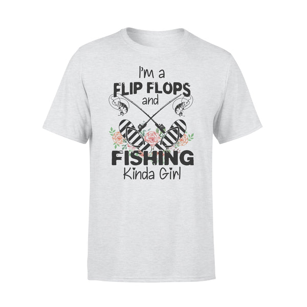 I'm A Flip Flops And Fishing Kinda Girl Shirt XL By AllezyShirt