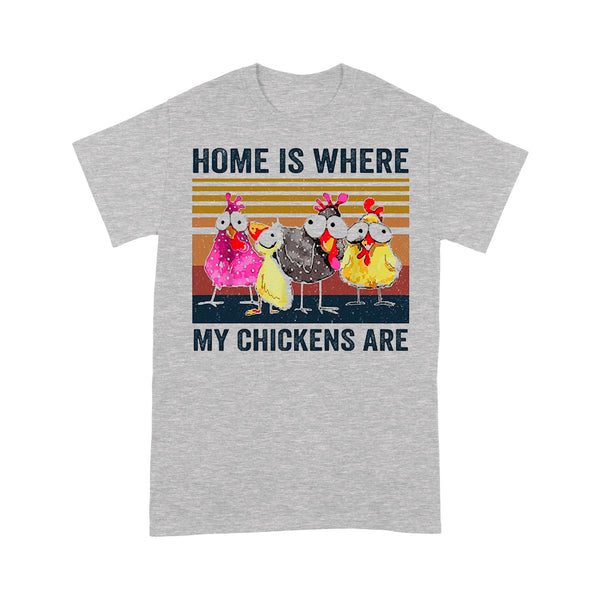 Home Is Where My Chickens Are Vintage Retro T-shirt M By AllezyShirt