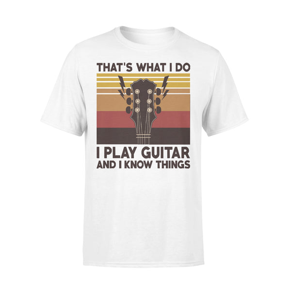 Vintage That's What I Do I Play Guitar And I Know Things T-shirt L By AllezyShirt