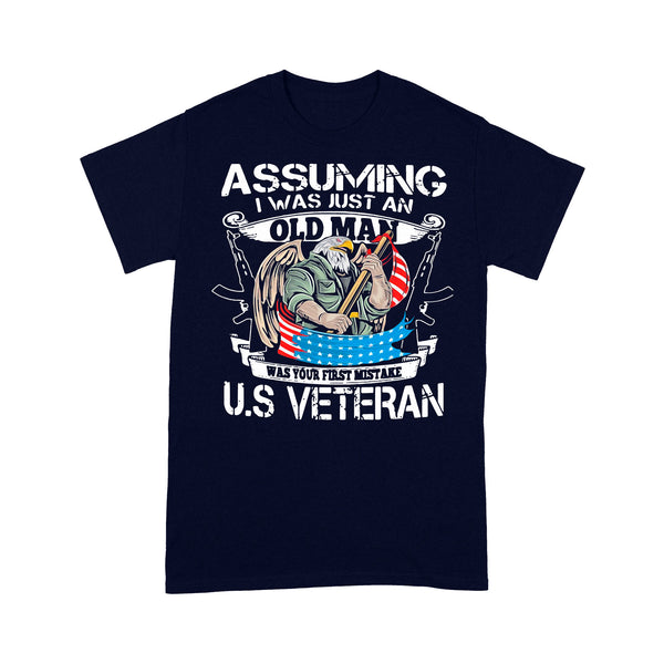 Assuming I Was Just An Old Man Was Your First Mistake Us Eagle Veteran Day T-shirt XL By AllezyShirt