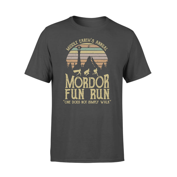Middle Earth's Annual Mordor Fun Run One Does Not Simply Walk Vintage T-shirt L By AllezyShirt