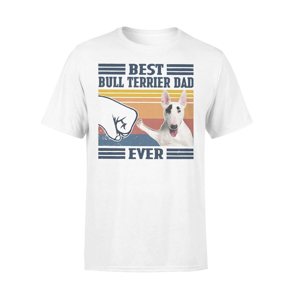 Father's Day Best Bull Terrier Dad Ever Vintage T-shirt L By AllezyShirt